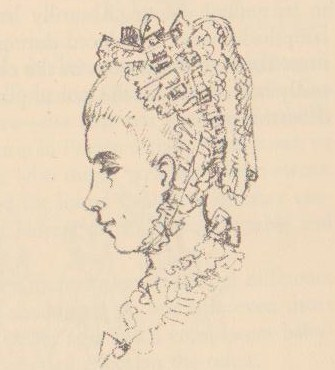 Brooke's Drawing of a Cap - Headwear Terms for 18th c - Glossary of Eighteenth Century Fashion- HandBound
