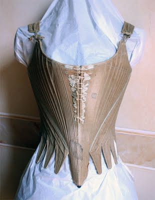 Stays - c1780 - Italian - History of the Corset - HandBound - 18th century Clothing - Undergarments - Marie Antoinette - Georgiana Cavendish - Duchess of Devonshire - Madamn Pompadour