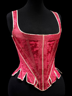 V&A red damask corset - HandBoundCorsets - Stays who wore them