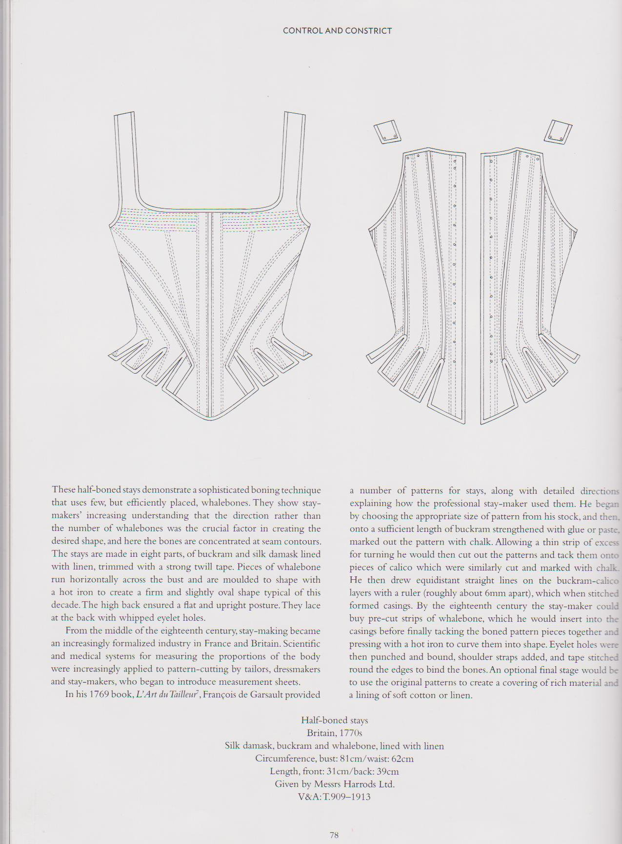 400 Years of Fashion - V&A Book - Inner Page 2 - HandBound Costumes Bibliography