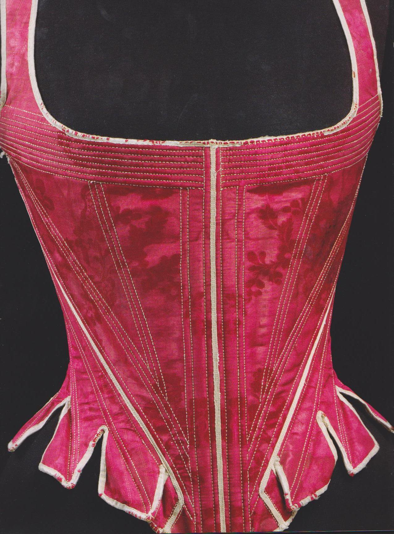 1770s stays, the staymaker, 18th c underwear and fashion, HandBound historical costumes research