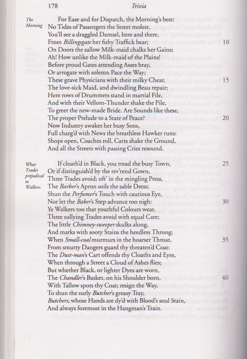 John Gay's Trivia - 1716 - Inner Page 2- HandBound Costumes Bibliography