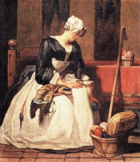 the milkmaid - grueze - 1780-84 - HandBound Bibliography and Customer Library - eighteenth century costume research - working women's dress - practical clothing in the 1700's - Georgian Costume