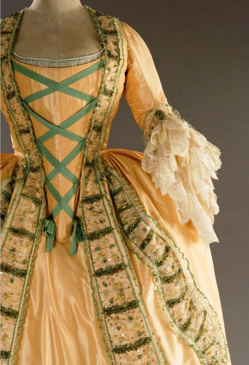 Robe a l'Anglais - 1748 - HandBound Costumes - Stays research, how stays were worn, Stomacher styled stays, robe a l'anglais and how they were dressed