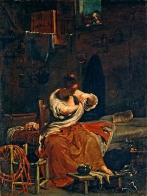 Woman de-fleaing -Crespi - 1715-20 - handBound