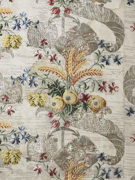 Ann Fanshaws dress - Fabric - 1752-53 - mus of lon