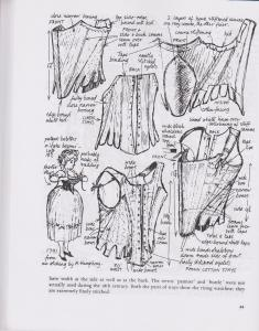 Nancy Bradfield's Dress in Details Study of stays - p44, National Trsut berrington Hall Stays - 1700s, HandBound Research for 18th Century Stays, bespoke Corsetier specialising in 18th C. Stays, Made to Order Historic Stays, 18th Century fashion and underwear, what the georgians wore, dress like a georgian, fully boned stays, Boned bodies - the development of the corset,