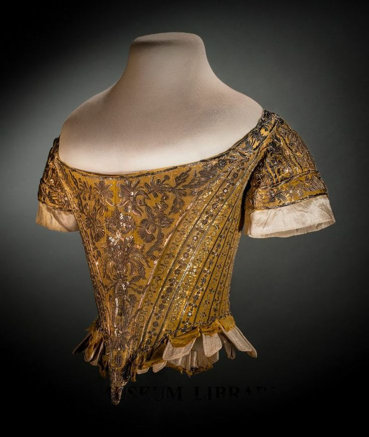 1761 - eng - court bodice worn by lady mary douglas who attended the queen in 1761 corontaion - fidmmuseum