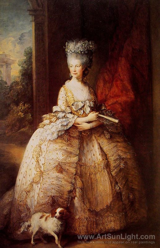 Gainsborough - 1781- Queen Charlotte - HandBound