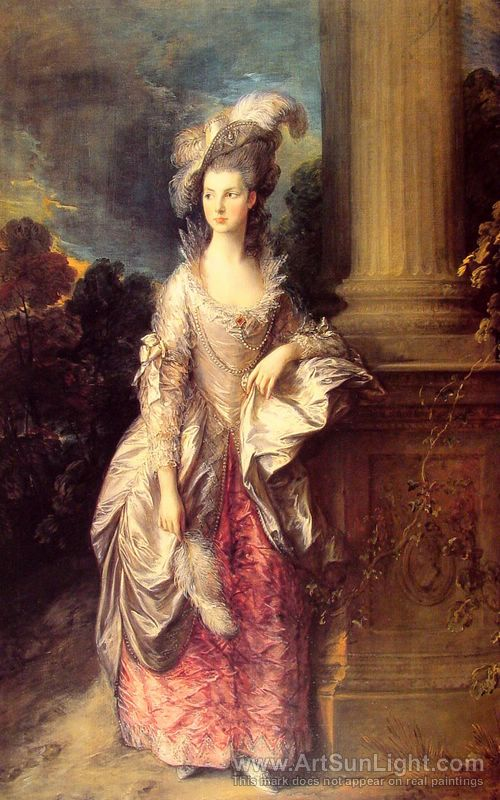 Mrs Cathcart Graham - Gainsborough - 1777 - HandBound