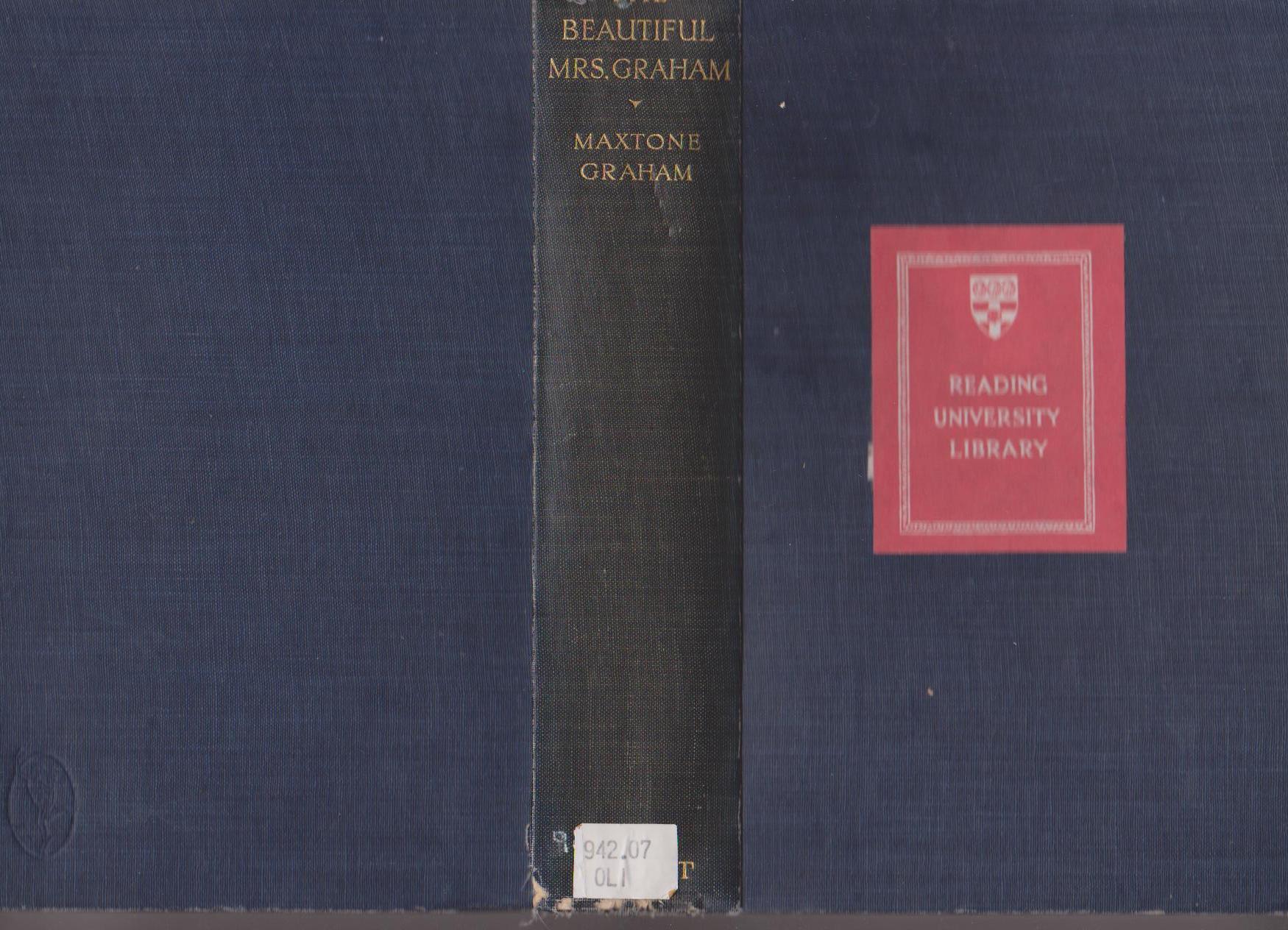 The Beautiful Mrs Graham - Maxtone Graham - 1927