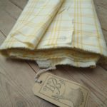 Good weight yellow Check - HandBound fabrics