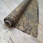 Tudor Black and Gold silk fabric - HandBound Fabric, online fabric suppliers, HandBound Historical Costumes Supplies, medieval Style Fabrics, Vintage Fabrics, Tudor and Renaissance Style fabrics,