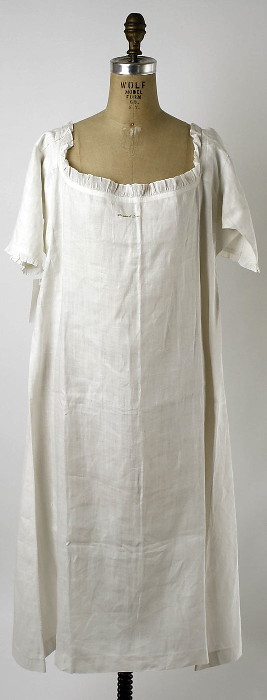 Reproduction of Linen Chemise from Metropolitan Museum of Art c.1780 by HandBound Historical Costumes, Replica Period Clothing, Linen Undergarments, Georgian Underclothes and underpinnings, 18th century historical costumes made by HandBound Costumes, Metropolitan Museum of Art Chemise from the 1780s replicated by HandBound Costumes, The history of the shirt, what women wore in the 1700s, re-enactment costumes, theatre and film costumier, dress like the duchess, what did marie antionette wear?