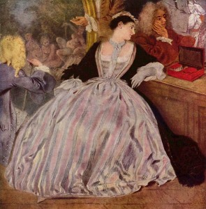 l'enseigne de garsaint by watteau, HandBound historical costume research, what the early georgians wore, images of early 1700s fashion