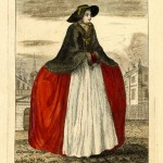 the months - engraving series by J.june - 1749 - january, handbound historical costume research, 1749 fashions and what was worn, the history of the hooped petticoat, who wore hoops - 18th c fashions, hand made and bepsoke historical costumes for sale, well researched reproduction costumes for sale,