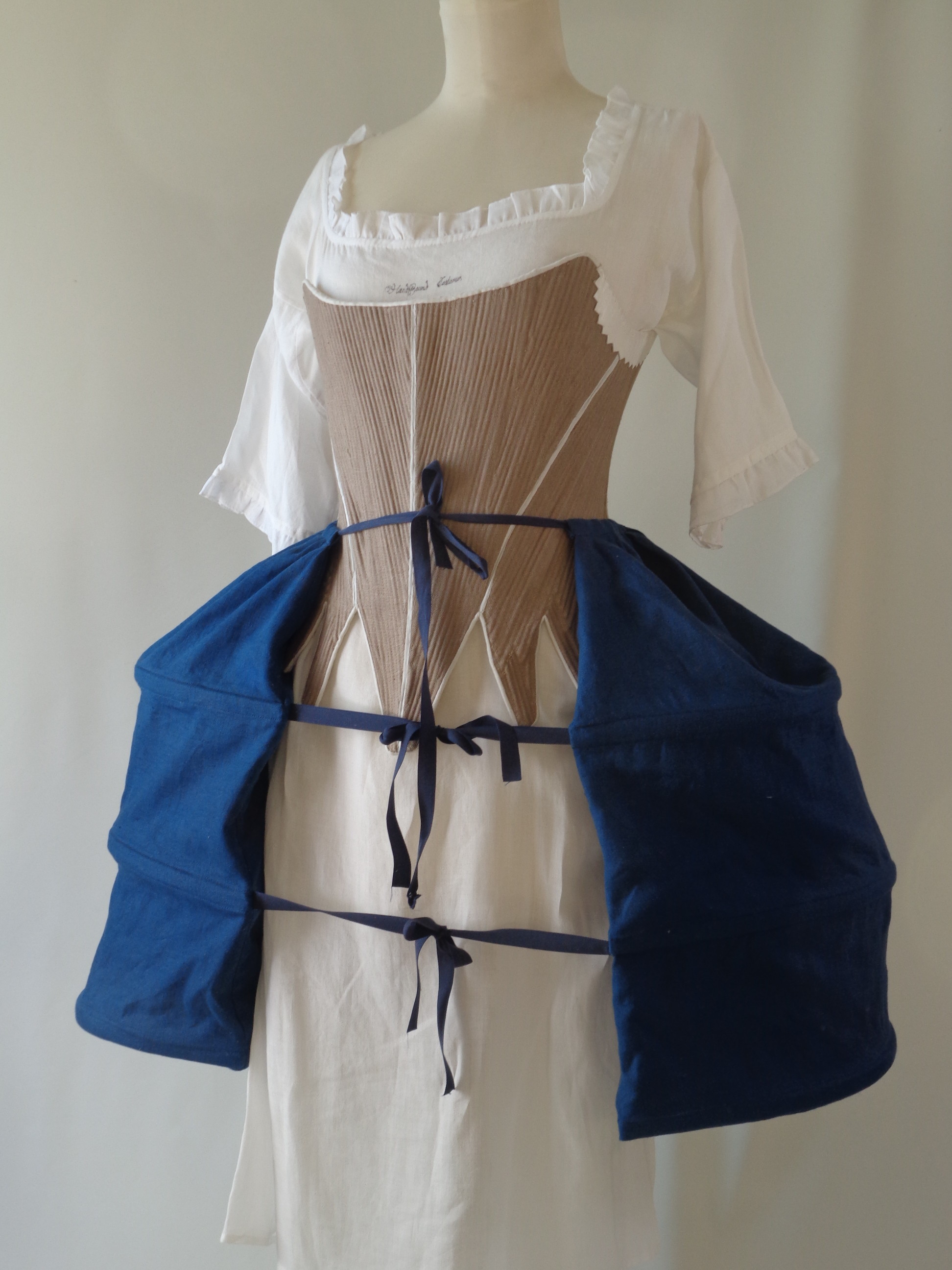replica pocket hoops for reenactment, period costume for displays and theatre productions