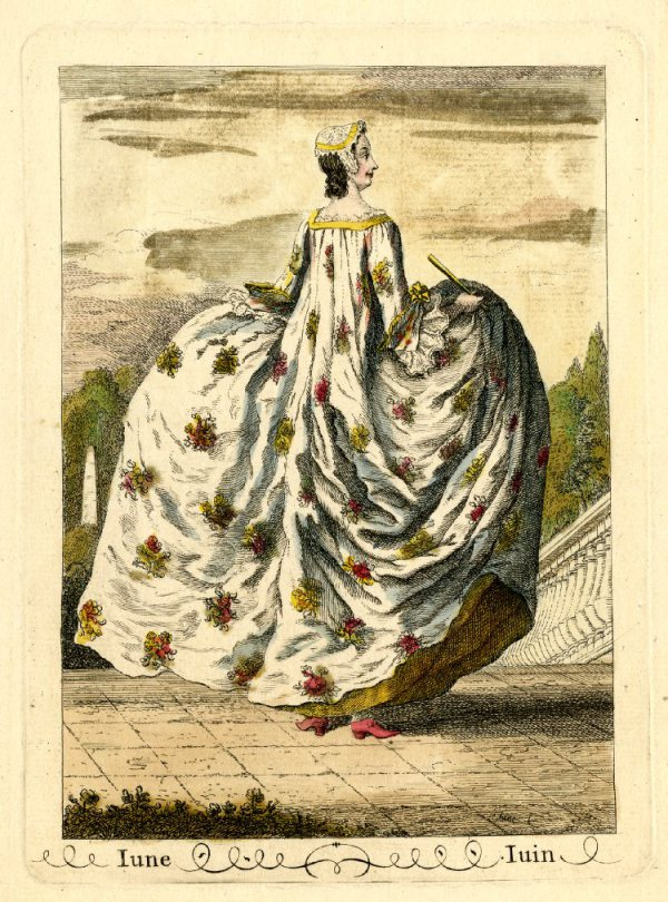 what people wore in the mid 1700s, 1740's fashion and images of the large hooped petticoats, examples of 1740s sacks, mid 18th c sacks