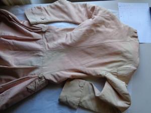 Silk coat - c.1760-70, historical pattern cutting by HandBound Costumes