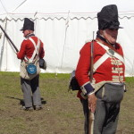 coldstreamers at Chalke Valley History Festival, HandBound costumes at the Daily Mail History Festival, 18th c fashion - replica costumiers