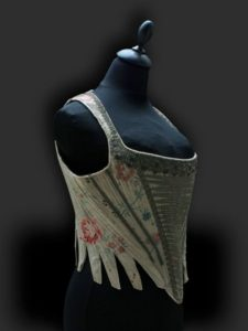 mid 18th c stays, georgian fashion and hand made costume, museum costumier, 1700s corsets