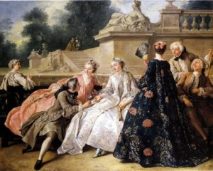 1730 fashions, early 18th c costume fashions, whats a sack back, what date did sack backs come in at, handbound historical custom made and period-accurate costumes
