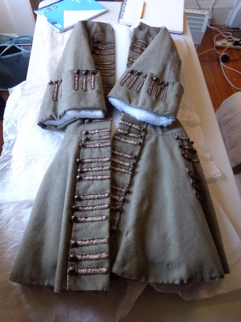 theatre and film costumier, replica period and historical costumes, 18th c garments made from replicas, handbound period tailoring