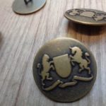 Horse and Shield - Brass