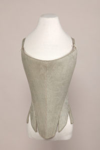 Full frontal view of Manchester pair of stays - 18th century