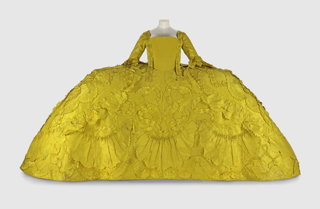 yellow court mantua at the edinburgh collections centre NMS