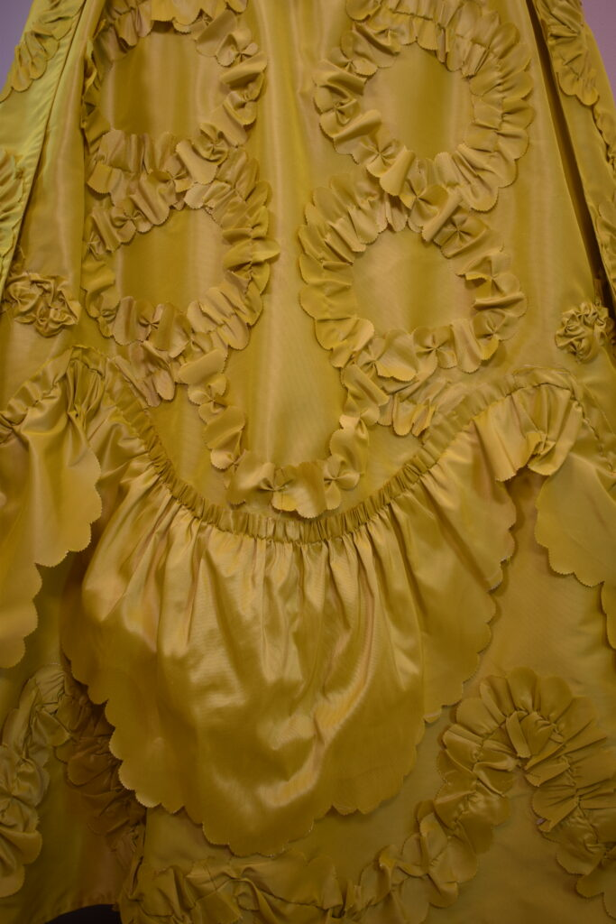 petticoats decorated with flounces and swathes - 18th centuyr rococo fashion by HandBound Costumes