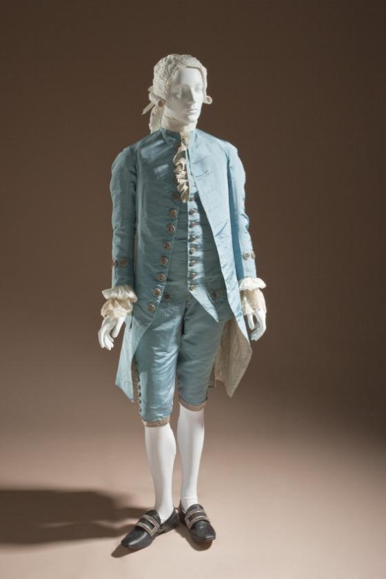 18th century mans suit - c.1765 lacma collection - front view